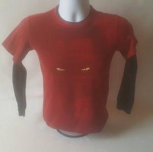 Nike boys football themed long sleeve shirt